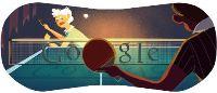 Le septième Doodle imagé sur Google est le tennis de table