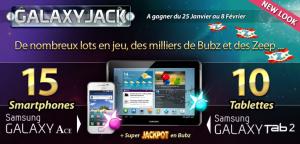 Aperçu du jeu et des cadeaux dans Galaxy Jack