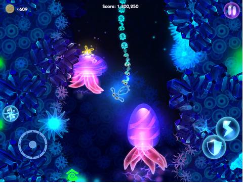 Capture d'écran du jeu Glowfish HD