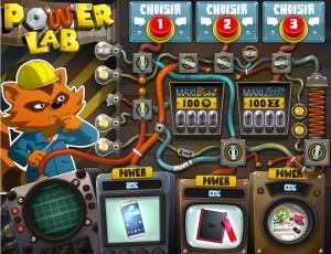Aperçu du jeu en ligne Power Lab