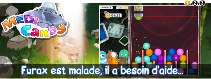 Le jeu gratuit Medi Candy sur Prizee