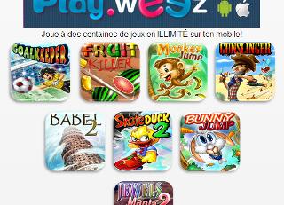 Les jeux mobiles idéals pour s'amuser sont en ligne sur m.Playweez !