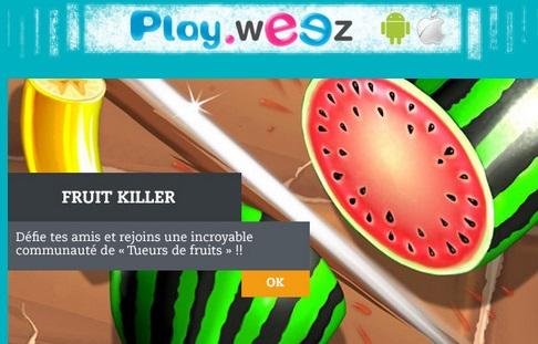 Les jeux mobiles de m.Playweez en téléchargement égayent les mobiles