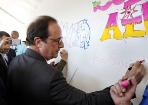 François Hollande à Solidays