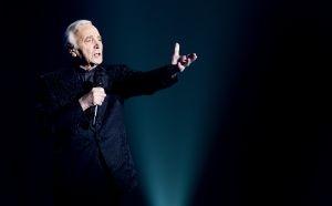 Le chanteur Charles Aznavour