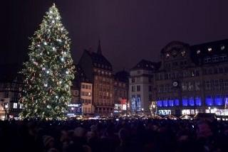Un sapin illuminé © AFP-Relaxnews