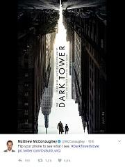 La réalisation « La Tour sombre » se dévoile © Twitter/Matthew McConaughey