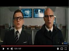 Taron Egerton est à l'affiche du film d'action « Kingsman : Le Cercle d'or » © YouTube