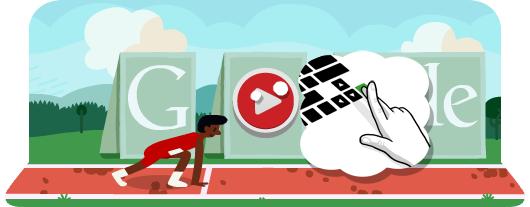 Le Google Doodle J.O du jour est la Course de haies