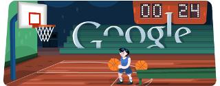 Google Doodle : le logo du jour est aux couleurs du basketball