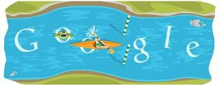 Google Doodle vous invite à faire du canoë slalom