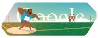 Google Doodle s'inspire de l'épreuve du lancer de poids