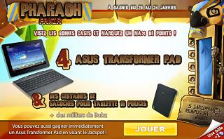 Prizee : jouez au jeu en ligne Pharaoh Fakir pour remporter un cadeau