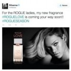 Rihanna montre la première image d'un parfum appelé Rogue Love