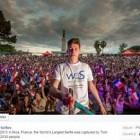 Tom Bittmann bat le record du plus grand selfie et fait honneur à la France