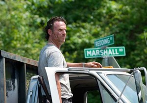 "Le shérif Rick Grimes dans la série ""The Walking Dead"". © AMC"