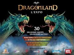 Exposition Dragonland, sur les dragons a Paris, en tete des ventes de la Fnac