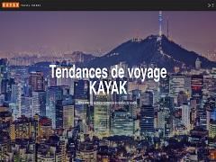 Tendances de voyage, un outil de l entreprise Kayak pour les vacances