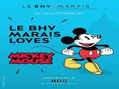 BHV Marais, le magasin recoit Mickey Mouse, l invite d honneur en septembre 2017