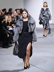 Addition Elle, marque de vetements body positive, a la Fashion Week de New York