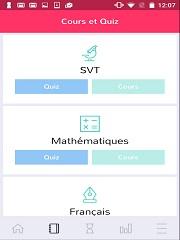 Application mobile, plusieurs programmes pour la revision des collegiens
