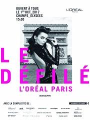 L Oreal Paris organise un defile mode et beaute aux Champs Elysees