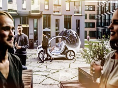 Smart Vision EQ Fortwo, une voiture electrique et autonome biplace