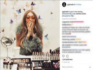 Gigi Hadid, la mannequin lance sa collection de maquillage avec Maybelline