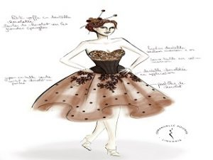 Salon du chocolat, la 23eme edition devoile des robes creees par des chocolatiers