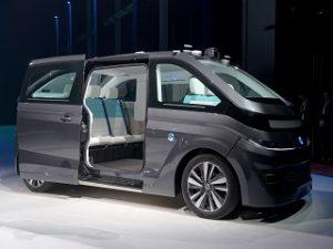 Autonom Cab, taxi autonome electrique de la start up francaise Navya