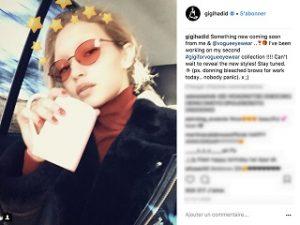 Gigi Hadid et Vogue Eyewear, seconde collection de lunettes de la mannequin