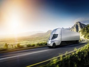 Semi de Tesla, un camion electrique dote de diverses specificites
