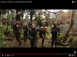 Avengers Infinity War, le film de superheros des comics Marvel a un trailer