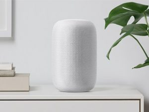 Apple HomePod, enceinte connectee munie de l assistant intelligent Siri