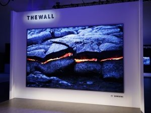 The Wall de Samsung, television MicroLED modulaire devoilee au CES 2018