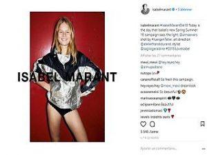 Isabel Marant signe Anna Ewers pour sa campagne de collection printemps ete