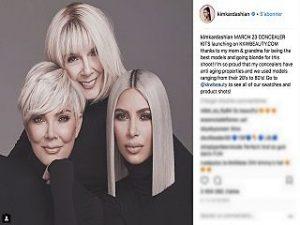Kim Kardashian, kit de correcteurs devoile par la patronne de KKW Beauty