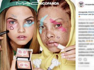 MAC et Nicopanda, la marque de streetwear, lancent une collection de maquillage