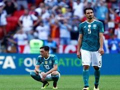 Les Allemands desesperes apres leur elimination