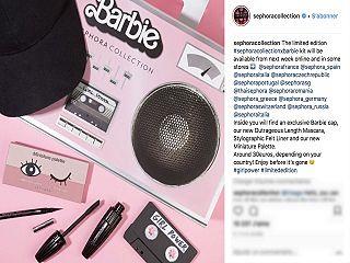 Sephora et Barbie, le geant des cosmetiques lance une collection de maquillage