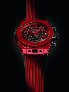 Hublot et sa nouvelle montre, la Big Bang Unico Red Magic de l horloger suisse
