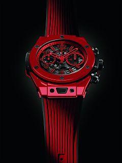 Hublot et sa nouvelle montre, la Big Bang Unico Red Magic de l horloger suisse