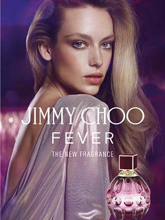 Jimmy Choo Fever, parfum de Jimmy Choo avec Hannah Ferguson comme egerie