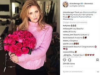 Lancome et Chiara Ferragni, styliste devenue ambassadrice de la marque francaise