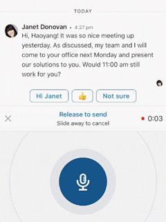 LinkedIn, l application mobile du reseau social integre les messages vocaux