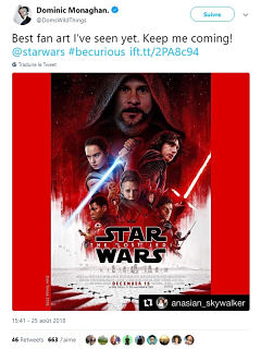 Star Wars : Dominic Monaghan sera au casting du prochain film de JJ Abrams