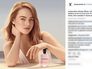 Attrape Reves, parfum de Louis Vuitton avec Emma Stone comme egerie