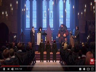 Jeu mobile, Harry Potter Hogwarts Mystery avec Maggie Smith et Michael Gambon
