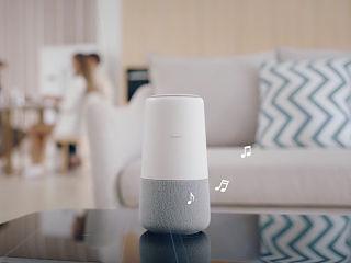 Huawei AI Cube, enceinte connectee compatible avec Alexa et servant de routeur