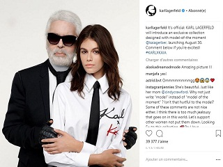Karl Lagerfeld et Kaia Gerber, leur collaboration abouti a une collection